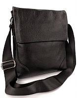 Чорна чоловіча шкіряна сумка через плече Tiding Bag M38-29A, фото 1