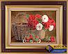 Схема для вышивки бисером - Натюрморт из роз и клубники, Арт. НБч3-004
