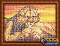 Схема для вышивки бисером - Пара львов на закате, Арт. ЖБп3-58