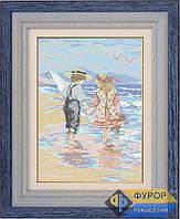 Схема для вышивки бисером - Дети на берегу моря, Арт. ЛБп3-1