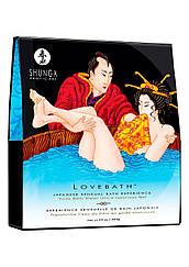 Гель для ванни Shunga LOVEBATH - Ocean temptations 650гр, робить воду ароматним желе зі SPA еффектом