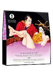 Гель для ванни Shunga LOVEBATH - Sensual Lotus 650гр, робить воду ароматним желе зі SPA еффектом