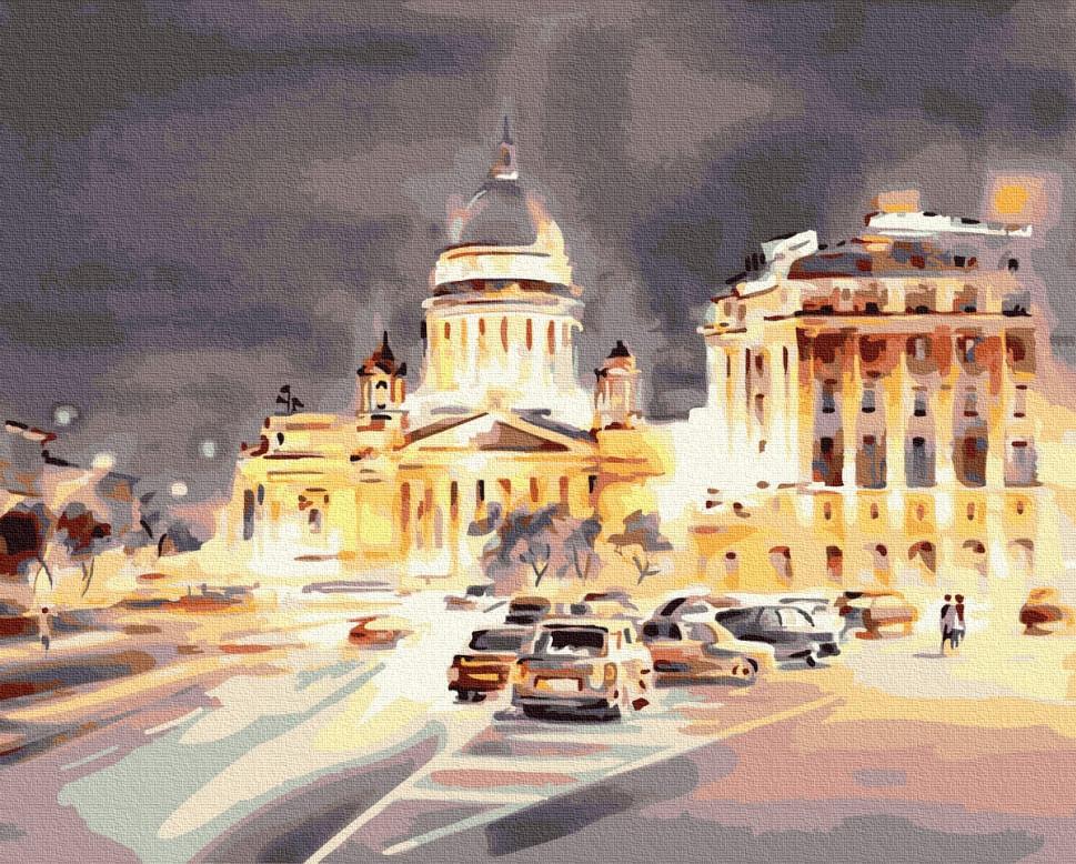 """Картина за номерами. Brushme """"Світло нічного міста"""" GX35213"""