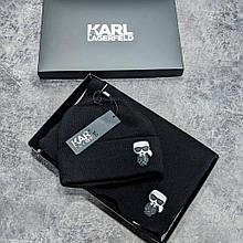Набір шапка і шарф Karl Lagerfeld CK1797 чорний