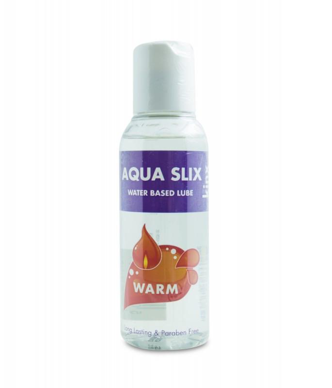 Лубрикант на водній основі Aqua Slix Water Based Lube Warm з зігріваючим ефектом (100 мл)