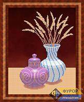 Схема для вышивки бисером - Натюрморт из вазы и графина, Арт. НБч3-36