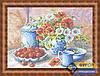 Схема для вышивки бисером - Цветы в вазе и вишня, Арт. НБп3-039