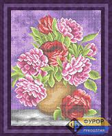 Схема для вышивки бисером - Пионы в вазе, Арт. НБп3-49-2
