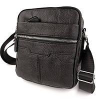 Мужская кожаная сумка через плечо черная Tiding Bag Т38