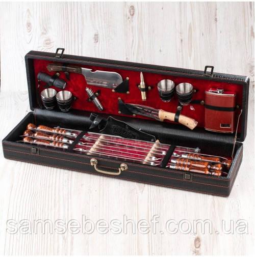 Подарочный набор для шашлыка в кейсе 19 предметов