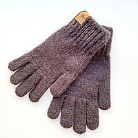 Вовняні підліткові рукавички сірі