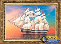 Схема для вышивки бисером - Корабль на закате, Арт. ПБч3-18