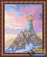 Схема для вышивки бисером - Маяк на закате, Арт. ПБп3-025
