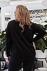 Кофта женская трикотажная с пуговицами большого размера 85769 чёрный Украина 48-58, фото 3