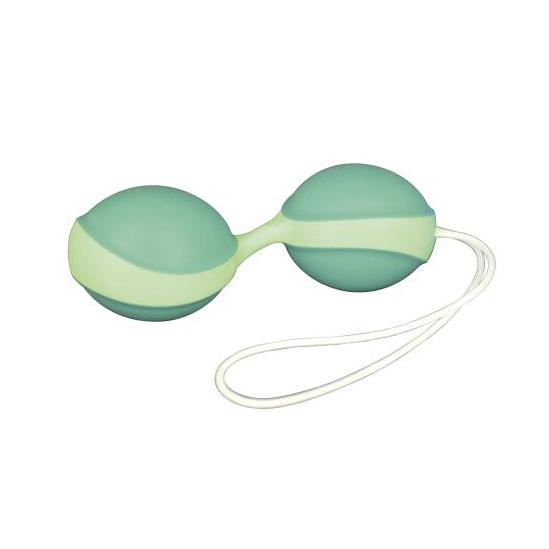 Вагінальні шарикиВагинальные кульки Amor Gym Balls Duo синьо-білі