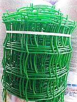 Сітка садова пластикова ,паркани.Осередок 90х90 мм,рул 1х20м, фото 1