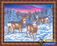 Схема для вышивки бисером - Олени зимой, Арт. ЖБч3-067
