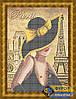 Схема для вышивки бисером - Модница из Парижа, Арт. ЛБч3-012