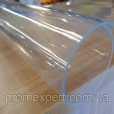 Плівка ПВХ силіконова,НА МЕТРАЖ 500 мкм (0.5 мм) ширина 1.5 м,прозора,на вікна,столи