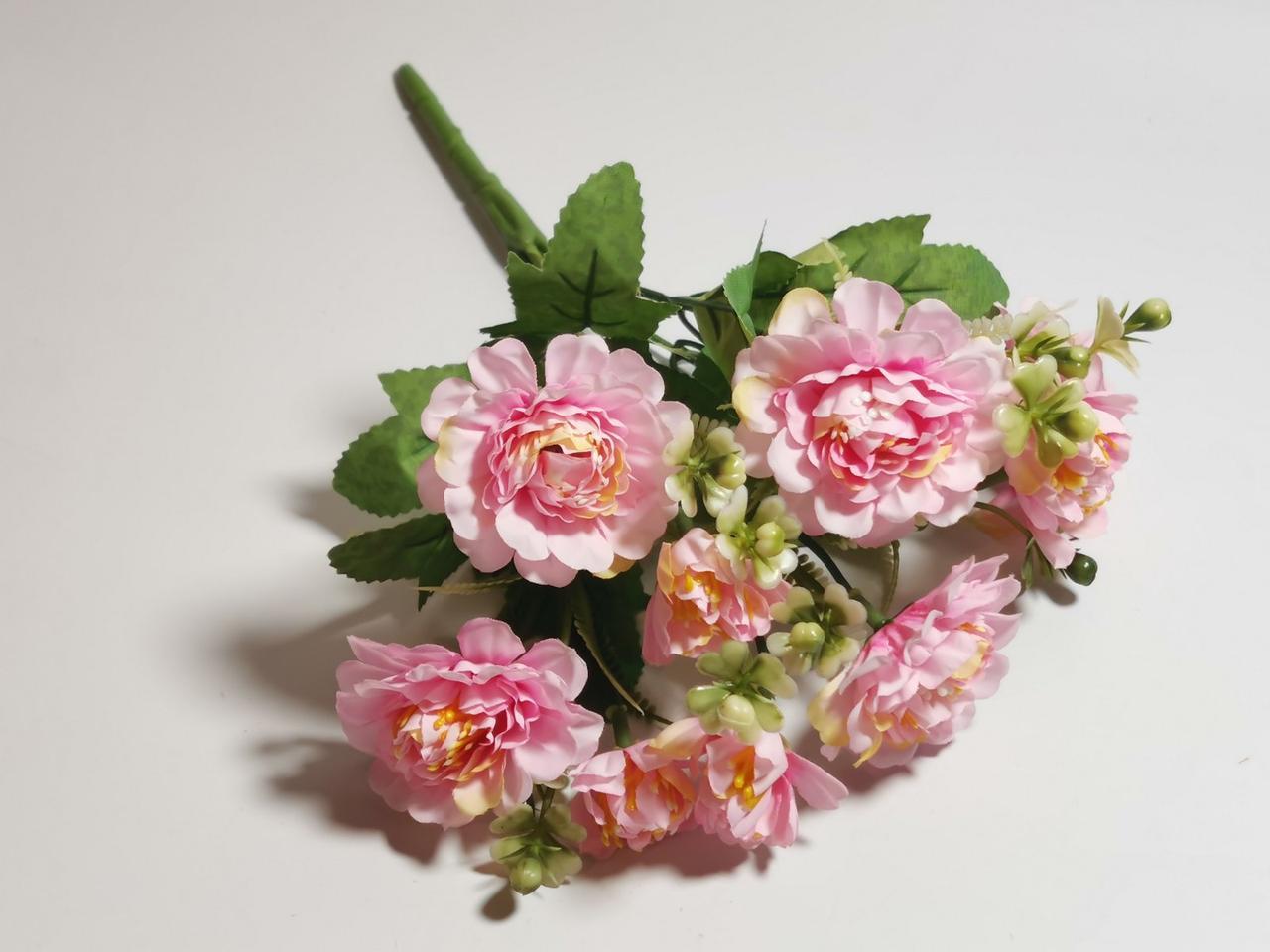 Штучні квіти. Букет хризантем, ніжно-рожевий.