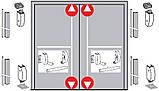 Антипаника Dorma PHA 2000 для 2-створчатой двери без штульпа с 4-точечным запиранием с внешней ручкой, фото 2