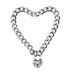 Нашийник з ланцюжка Heart, Silver