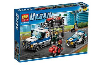 """Конструктор Місто Сіті 10658 """"Пограбування трейлера автовоза"""" 427 деталей."""