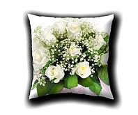 Фотоподушка Букет белых роз 2
