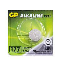 Батарейка LR626 (AG4) 1,5V щелочная GP