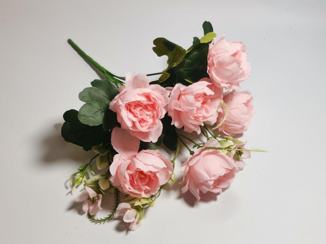 Искусственные цветы. Букет пионов, пудрово-розовый