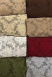 Турецкий чехол на угловой диван и кресло накидка натяжной Коричневый жаккардовый без юбки, фото 6