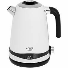 Чайник Adler AD 1295 white 40-100°C 1,7L с ЖК-дисплеем и функцией поддержания температуры Beige
