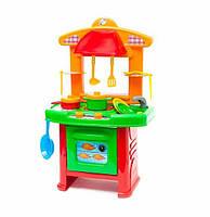 Детский игровой набор Кухня Орион | Набор плита, столовые приборы, посуда