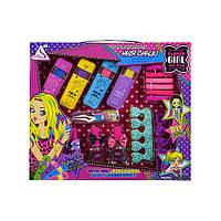 Детский набор косметики Мелки для волос | Набор лаки, разделители, пилочка