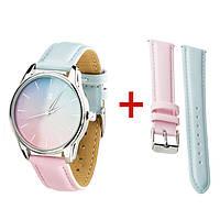 """Оригинальные наручные женские часы """"Розовый кварц и Безмятежность"""""""