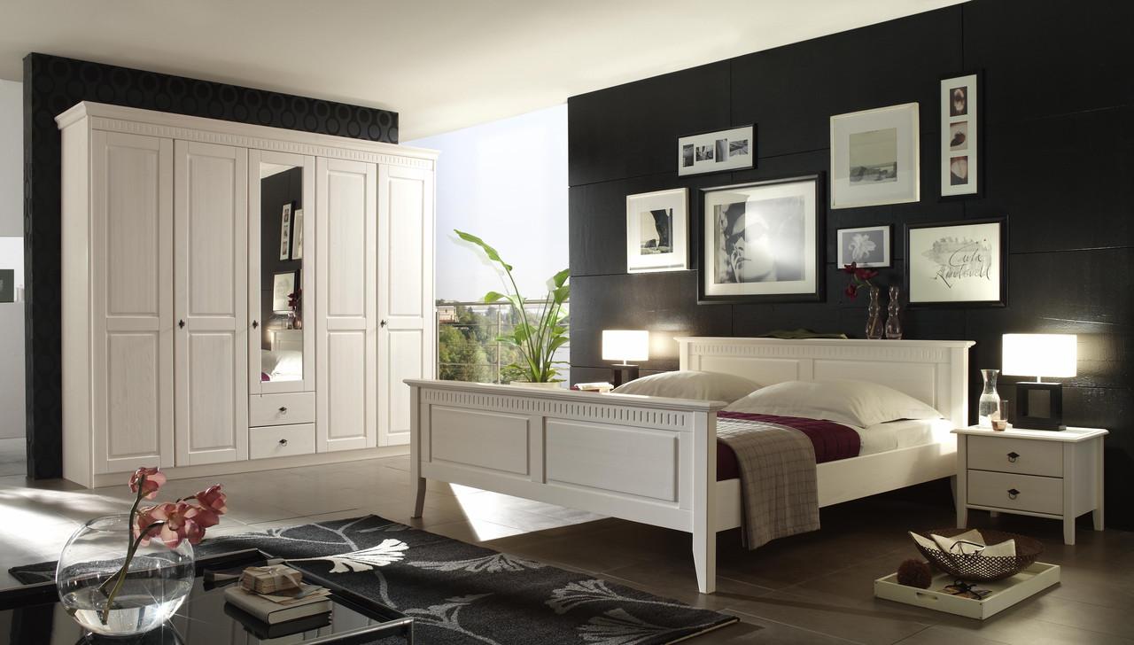 Спальня Боцен белый воск