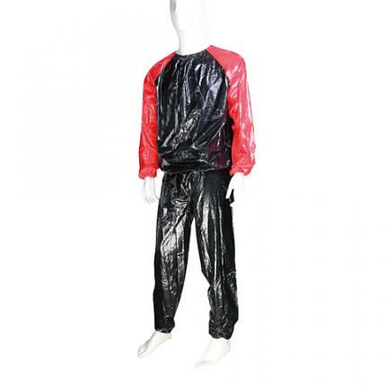 Костюм-сауна LiveUp PVC Sauna Suit S/M Black-Red (LS3034-SM), фото 2