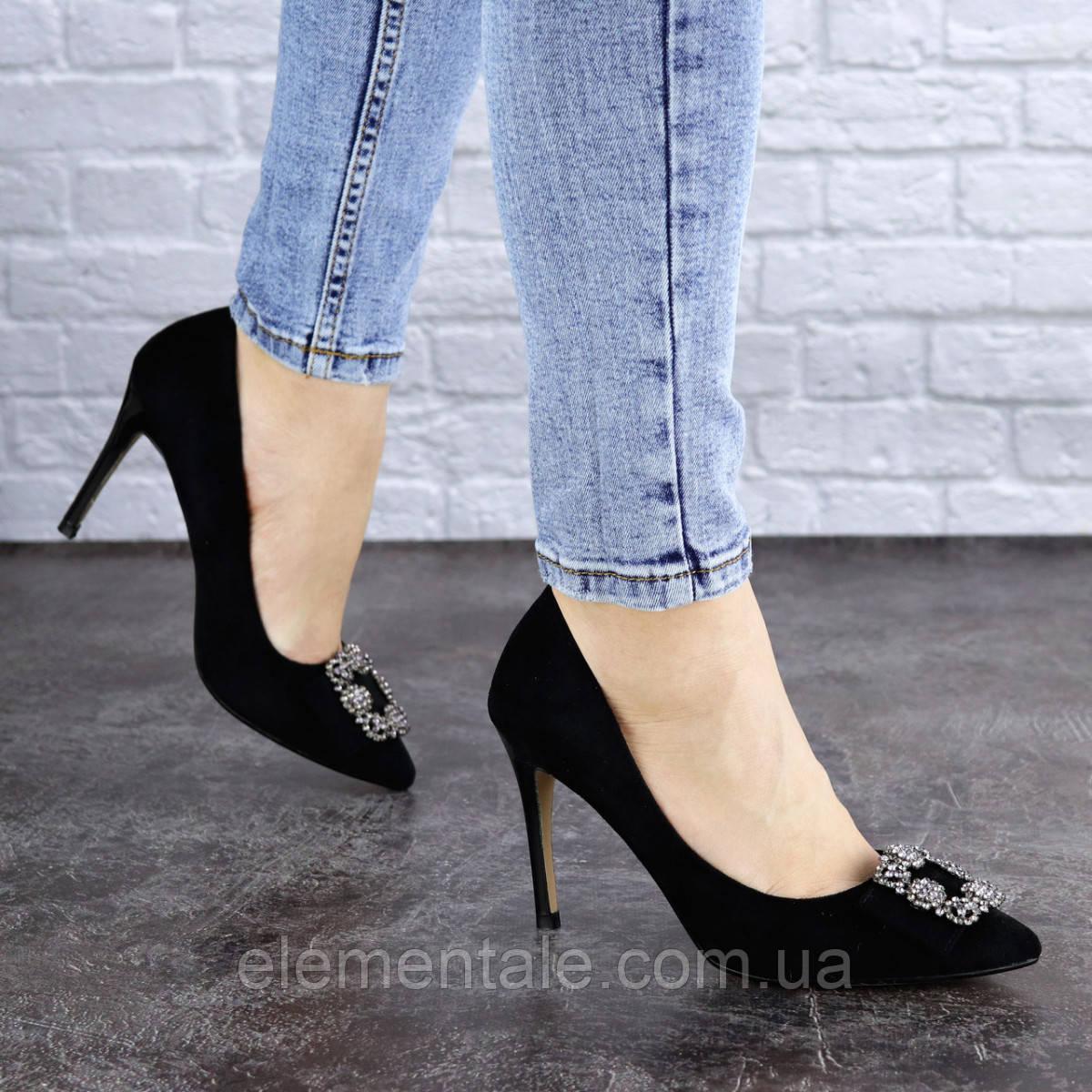Женские туфли на каблуке 36 размер 23,5 см Черные