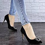 Женские туфли на каблуке 36 размер 23,5 см Черные, фото 3