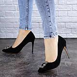 Женские туфли на каблуке 36 размер 23,5 см Черные, фото 4