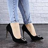 Женские туфли на каблуке 36 размер 23,5 см Черные, фото 5