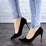 Женские туфли на каблуке 36 размер 23,5 см Черные, фото 6