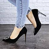 Женские туфли на каблуке 36 размер 23,5 см Черные, фото 7