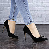 Женские туфли на каблуке 36 размер 23,5 см Черные, фото 8