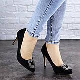 Женские туфли на каблуке 36 размер 23,5 см Черные, фото 2