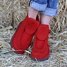 Валянки жіночі. Валеши. Модні валянки. Червоні валянки.