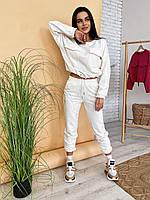 """Жіночий стильний прогулянковий костюм з турецької трехнитки-петлі """"TWIX"""" (7 кольорів, 42-44 і 46-48), фото 1"""