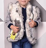 Жилетка детская для девочки Кролик 2-9 лет из овечьей шерсти с карманами