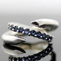 "Серебряное кольцо ""Гвоздик"" с сапфирами от WickerRing"