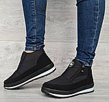 36 Розмір! Демисезонные женские зимние ботинки - кроссовки на молнии (Бт-10ч), фото 4